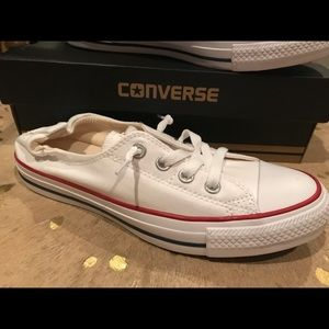 New in box, Converse shoreline slipons White